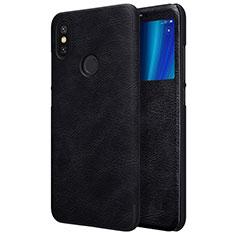 Handytasche Stand Schutzhülle Leder für Xiaomi Mi A2 Schwarz