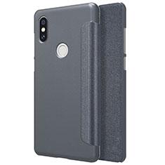 Handytasche Stand Schutzhülle Leder für Xiaomi Mi Mix 2S Schwarz