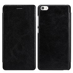 Handytasche Stand Schutzhülle Leder für Xiaomi Mi Note Schwarz