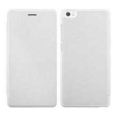 Handytasche Stand Schutzhülle Leder für Xiaomi Mi Note Weiß
