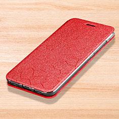 Handytasche Stand Schutzhülle Leder für Xiaomi Mi Play 4G Rot