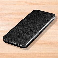 Handytasche Stand Schutzhülle Leder für Xiaomi Mi Play 4G Schwarz