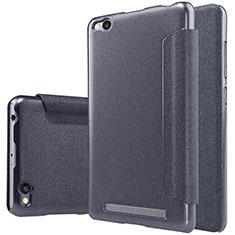 Handytasche Stand Schutzhülle Leder für Xiaomi Redmi 3 Schwarz