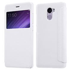 Handytasche Stand Schutzhülle Leder für Xiaomi Redmi 4 Standard Edition Weiß