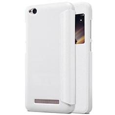 Handytasche Stand Schutzhülle Leder für Xiaomi Redmi 4A Weiß