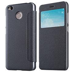 Handytasche Stand Schutzhülle Leder für Xiaomi Redmi 4X Schwarz