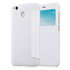 Handytasche Stand Schutzhülle Leder für Xiaomi Redmi 4X Weiß