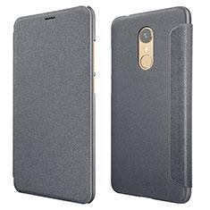 Handytasche Stand Schutzhülle Leder für Xiaomi Redmi 5 Schwarz