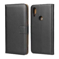 Handytasche Stand Schutzhülle Leder für Xiaomi Redmi 7 Schwarz