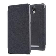 Handytasche Stand Schutzhülle Leder für Xiaomi Redmi Note 2 Schwarz
