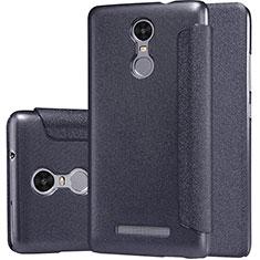 Handytasche Stand Schutzhülle Leder für Xiaomi Redmi Note 3 MediaTek Schwarz