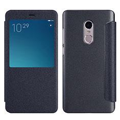 Handytasche Stand Schutzhülle Leder für Xiaomi Redmi Note 4 Schwarz