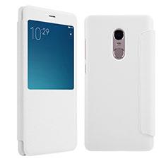 Handytasche Stand Schutzhülle Leder für Xiaomi Redmi Note 4 Weiß
