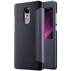Handytasche Stand Schutzhülle Leder für Xiaomi Redmi Note 4X Schwarz