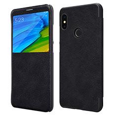 Handytasche Stand Schutzhülle Leder für Xiaomi Redmi Note 5 Pro Schwarz
