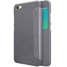 Handytasche Stand Schutzhülle Leder für Xiaomi Redmi Note 5A Standard Edition Schwarz