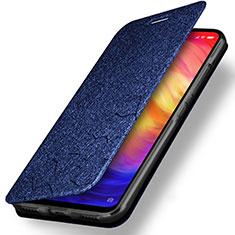 Handytasche Stand Schutzhülle Leder für Xiaomi Redmi Note 7 Blau