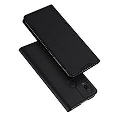 Handytasche Stand Schutzhülle Leder für Xiaomi Redmi Note 7 Schwarz