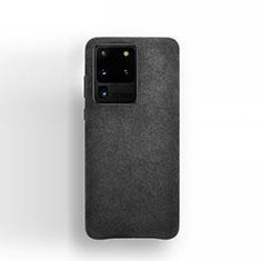 Handytasche Stand Schutzhülle Leder Hülle C01 für Samsung Galaxy S20 Ultra 5G Schwarz