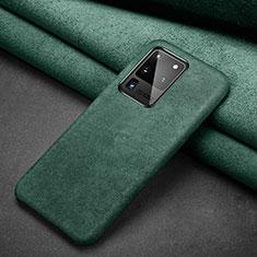 Handytasche Stand Schutzhülle Leder Hülle C02 für Samsung Galaxy S20 Ultra Grün