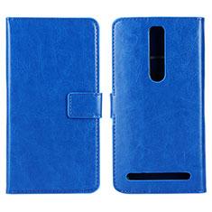 Handytasche Stand Schutzhülle Leder Hülle für Asus Zenfone 2 ZE551ML ZE550ML Blau