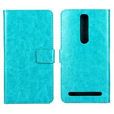 Handytasche Stand Schutzhülle Leder Hülle für Asus Zenfone 2 ZE551ML ZE550ML Cyan