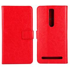 Handytasche Stand Schutzhülle Leder Hülle für Asus Zenfone 2 ZE551ML ZE550ML Rot