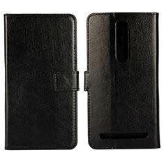 Handytasche Stand Schutzhülle Leder Hülle für Asus Zenfone 2 ZE551ML ZE550ML Schwarz