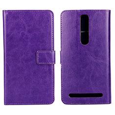 Handytasche Stand Schutzhülle Leder Hülle für Asus Zenfone 2 ZE551ML ZE550ML Violett