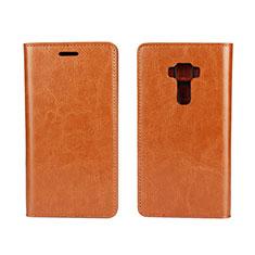 Handytasche Stand Schutzhülle Leder Hülle für Asus Zenfone 3 ZE552KL Orange