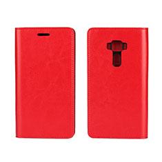 Handytasche Stand Schutzhülle Leder Hülle für Asus Zenfone 3 ZE552KL Rot