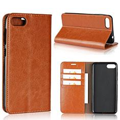Handytasche Stand Schutzhülle Leder Hülle für Asus Zenfone 4 Max ZC554KL Orange