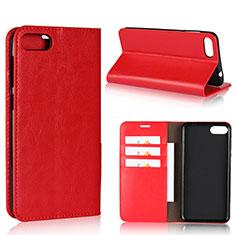 Handytasche Stand Schutzhülle Leder Hülle für Asus Zenfone 4 Max ZC554KL Rot