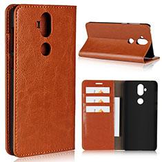 Handytasche Stand Schutzhülle Leder Hülle für Asus Zenfone 5 Lite ZC600KL Orange