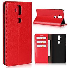 Handytasche Stand Schutzhülle Leder Hülle für Asus Zenfone 5 Lite ZC600KL Rot