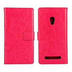 Handytasche Stand Schutzhülle Leder Hülle für Asus Zenfone 5 Pink