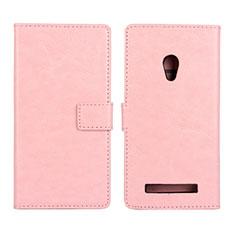 Handytasche Stand Schutzhülle Leder Hülle für Asus Zenfone 5 Rosa