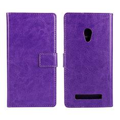 Handytasche Stand Schutzhülle Leder Hülle für Asus Zenfone 5 Violett