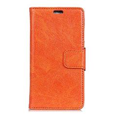 Handytasche Stand Schutzhülle Leder Hülle für Asus Zenfone 5 ZS620KL Orange