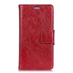 Handytasche Stand Schutzhülle Leder Hülle für Asus Zenfone 5 ZS620KL Rot