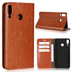 Handytasche Stand Schutzhülle Leder Hülle für Asus Zenfone 5z ZS620KL Orange