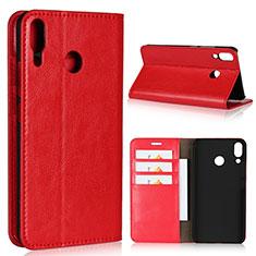 Handytasche Stand Schutzhülle Leder Hülle für Asus Zenfone 5z ZS620KL Rot
