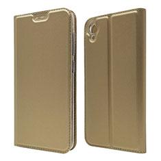 Handytasche Stand Schutzhülle Leder Hülle für Asus ZenFone Live L1 ZA550KL Gold