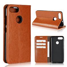 Handytasche Stand Schutzhülle Leder Hülle für Asus Zenfone Max Plus M1 ZB570TL Orange