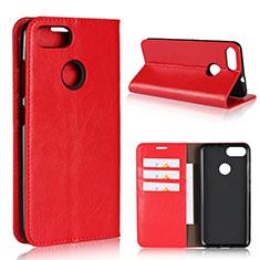 Handytasche Stand Schutzhülle Leder Hülle für Asus Zenfone Max Plus M1 ZB570TL Rot