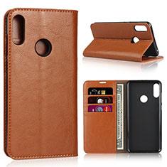 Handytasche Stand Schutzhülle Leder Hülle für Asus Zenfone Max Pro M2 ZB631KL Orange