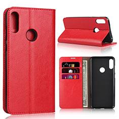 Handytasche Stand Schutzhülle Leder Hülle für Asus Zenfone Max Pro M2 ZB631KL Rot