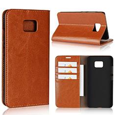 Handytasche Stand Schutzhülle Leder Hülle für Asus ZenFone V V520KL Orange
