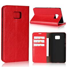 Handytasche Stand Schutzhülle Leder Hülle für Asus ZenFone V V520KL Rot