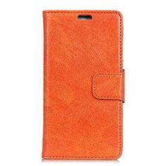 Handytasche Stand Schutzhülle Leder Hülle für Asus ZenFone V500KL Orange